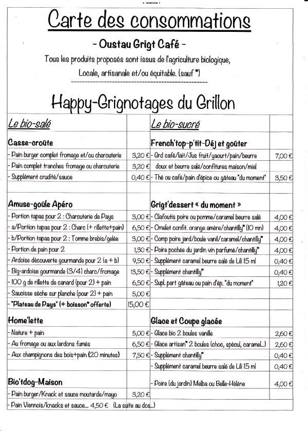 grignotages-tarif
